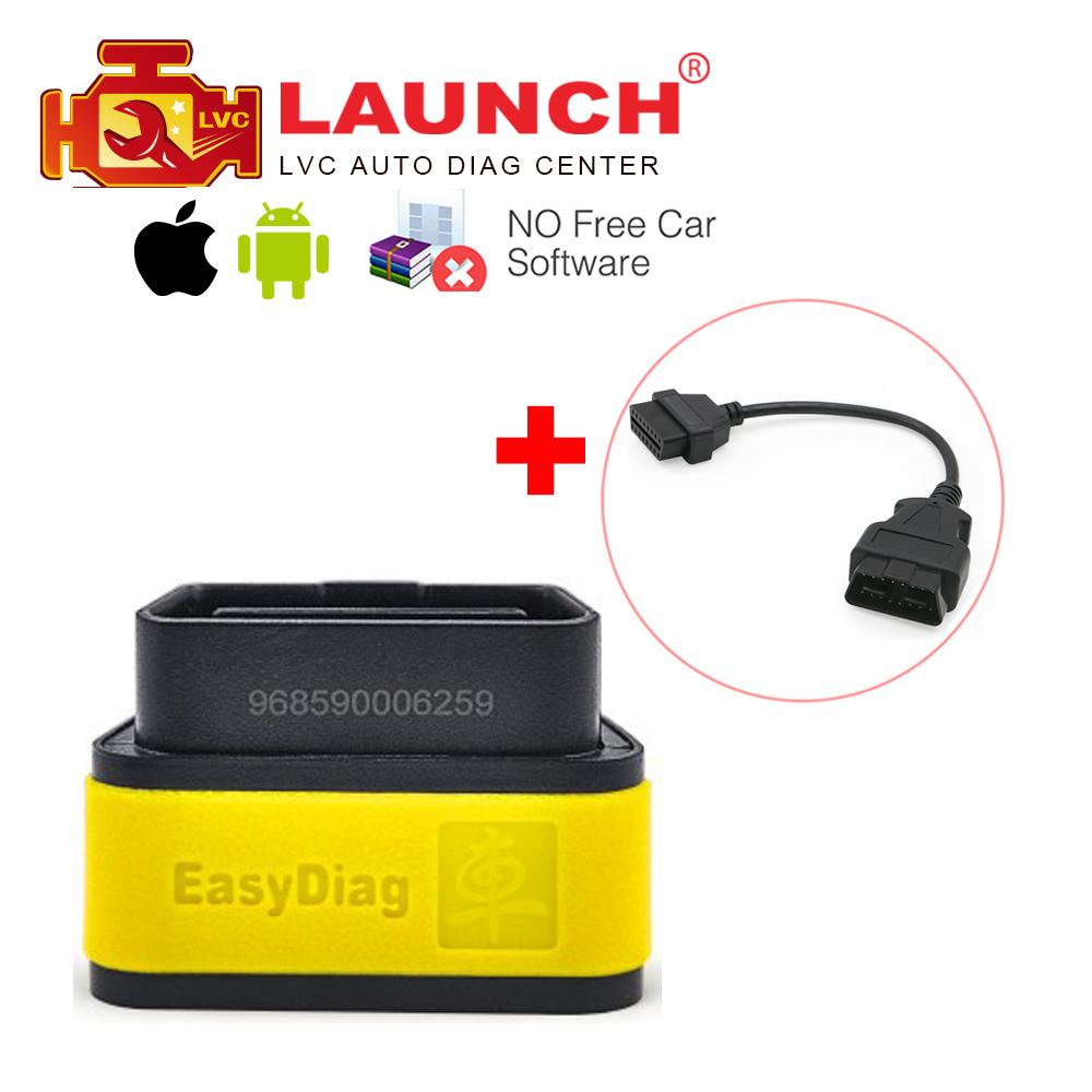 Prix pour Original launch x431 easydiag 2.0 auto outil de diagnostic pour ios et android système obdii obd2 code reader + obd 16pin câble d'extension