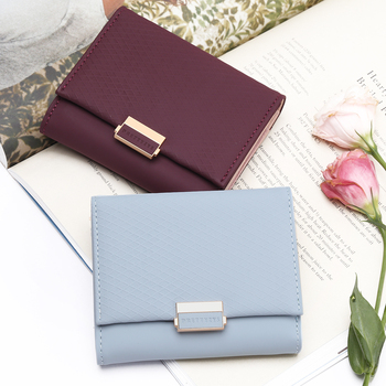ebd44ba4d9d 2018 Luxury Wallet Female Leather Women Leather Purse Plaid Wallet Ladies  Hot Change Card Holder Coin Small Purses For Girls - Brandsfire.com