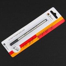 피카소 pimio 스위스 팁 롤러 볼 리필 0.5mm 0.7mm 스크류 타입 롤러 펜 리필 블랙 잉크 리필 5 개/몫