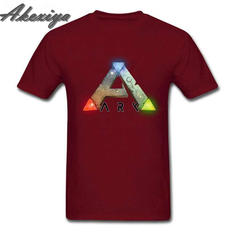 Цельнокроеная футболка ARK Survival, развивающая игра престолов, мужские футболки с коротким рукавом из хлопка, Джокер, круглый воротник, chemise homme