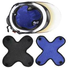 Moto moto e-bike respirant isolation thermique casque Cap maille Liner Pad casque Liner Pad(China)