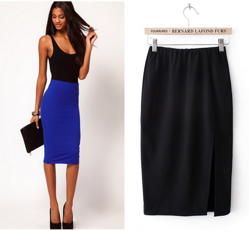 Length Knee business skirts pictures