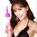 1PCS Silicone Anal G-spot Stimulating AV Rod Stick Vibrator Cap AV Massager Headgear Attachment for 4.5cm Size Magic wand