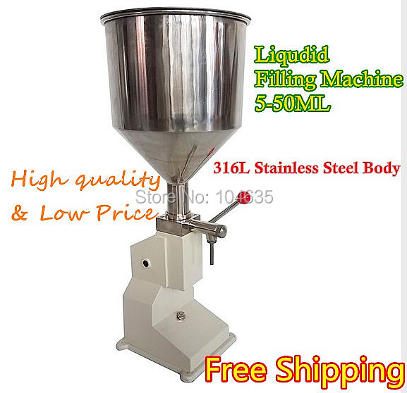 FREE SHIPPING Food filling machine Manual hand pressure stainless paste  liquid packaging equipment sold cream machine 1-50ML fast food leisure fast food equipment stainless steel gas fryer 3l spanish churro maker machine