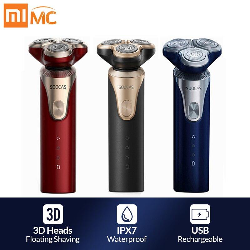 Xiaomi Mijia SOOCAS S3 Electric Shaver For Men 3 Cutter Head Dry Wet Shaving Wireless USB