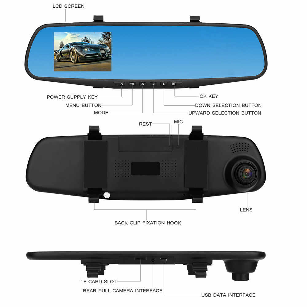 1080 p HD カメラデュアルカム車両フロントレンズビデオカメラ AU.23