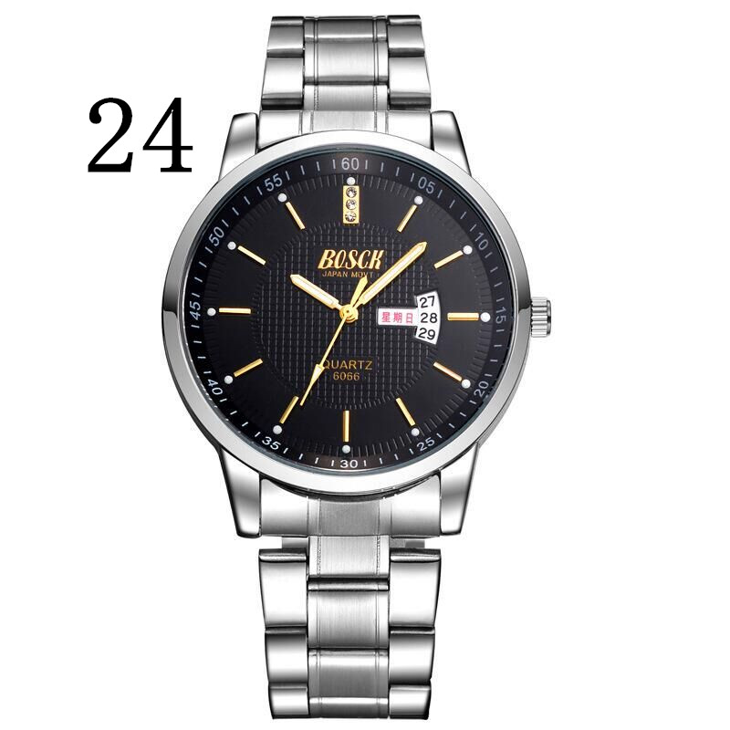 BOSCK 6066 leisure men s watch super brand watches double display calendar quartz watch business waterproof