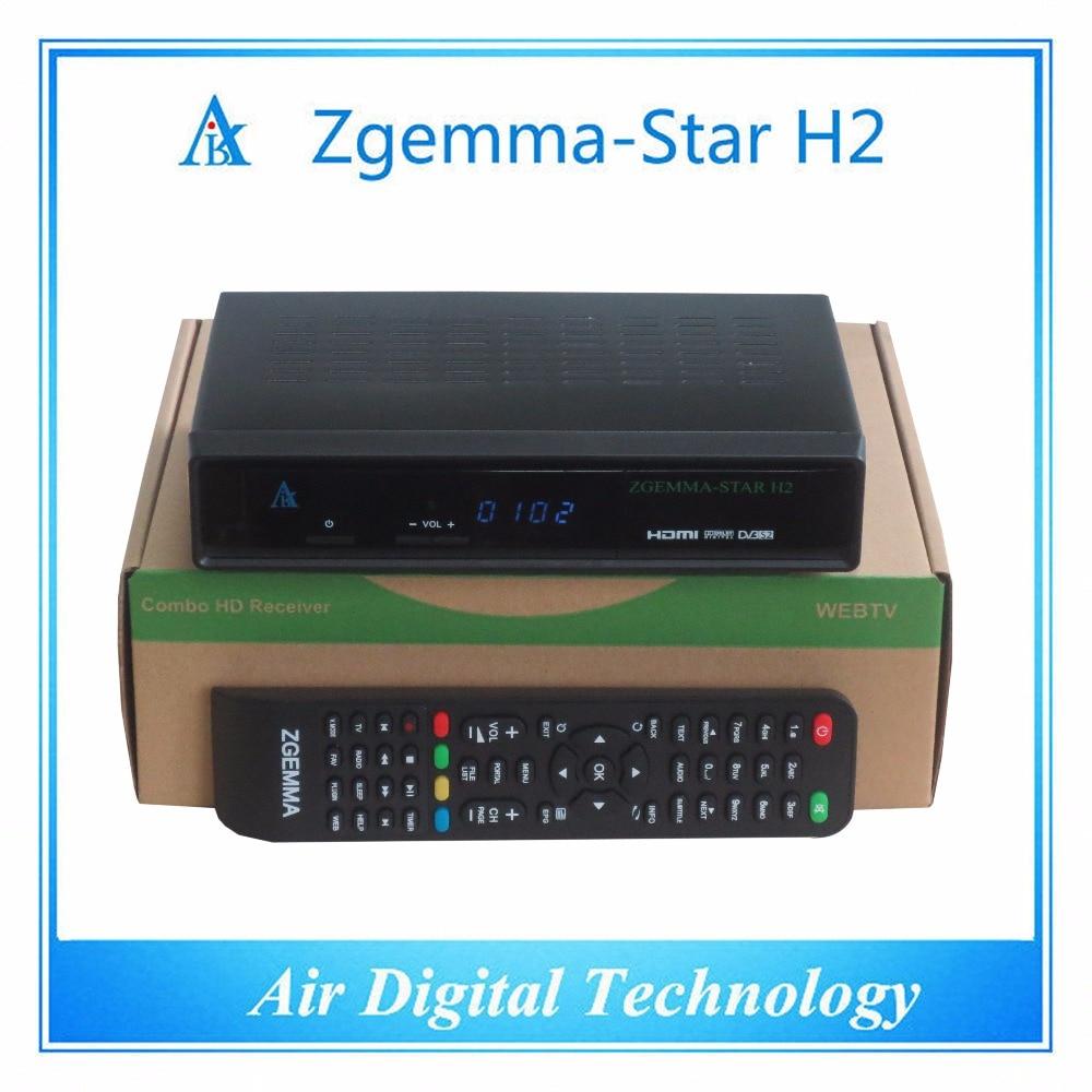 ФОТО 20 pcs/lot dvb t2/c dvb s2 satellite receiver with IPTV Linux 4.01 original Zgemma star H2