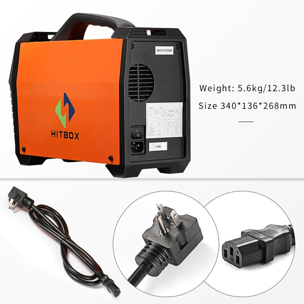 HITBOX Mig Welder 220V MIG120A Flux Cored Wire Iron Welding Machine ...