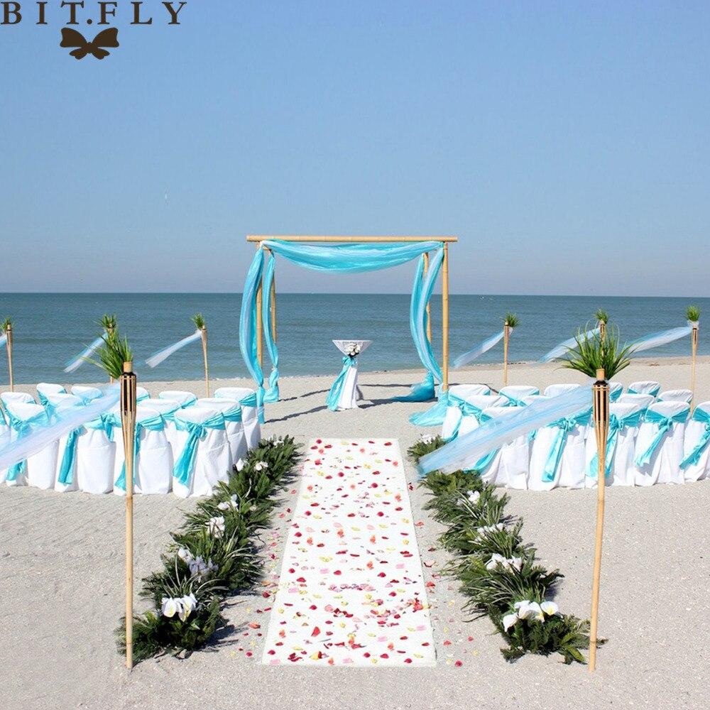 1set Romantic Beach Theme Wedding Decoration Organza Chair
