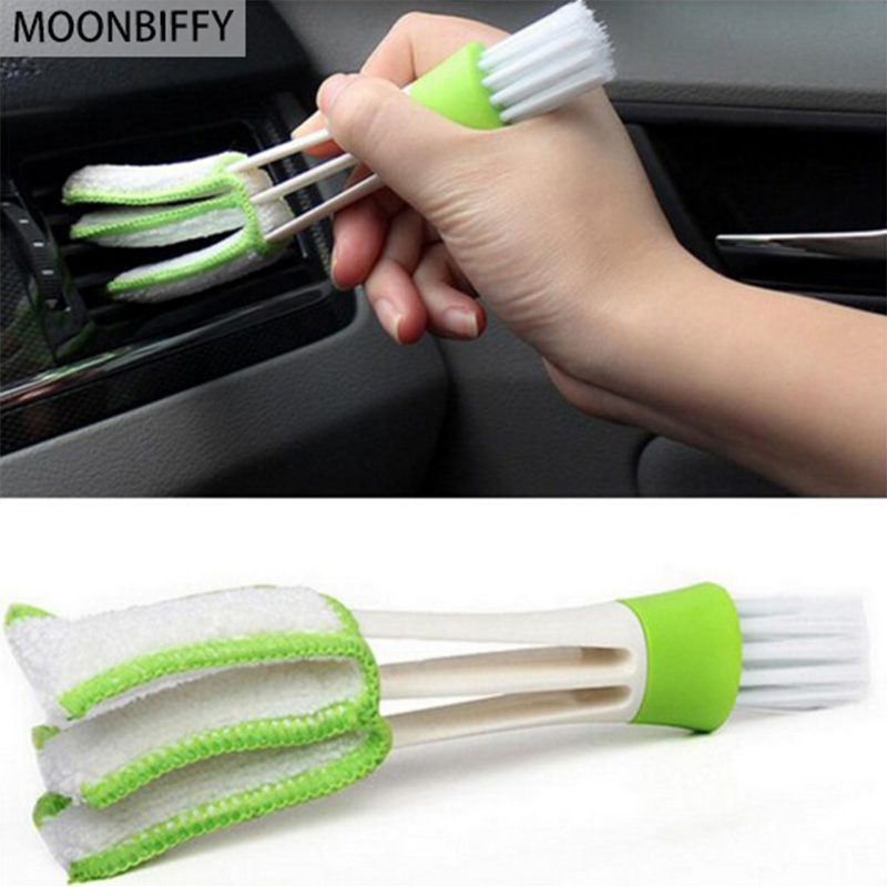 """""""MOONBIFFY"""" automobilio nauji plastikiniai automobiliai oro kondicionavimo ventiliacijos žaliuzės valymo šepečiu serijos dalims"""