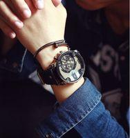 Moda JIS Alta Qualidade Blue Ray Black Brown Pulseira de Couro Revestimento de Aço Men Quartz Relógio de Pulso Relogio masculino