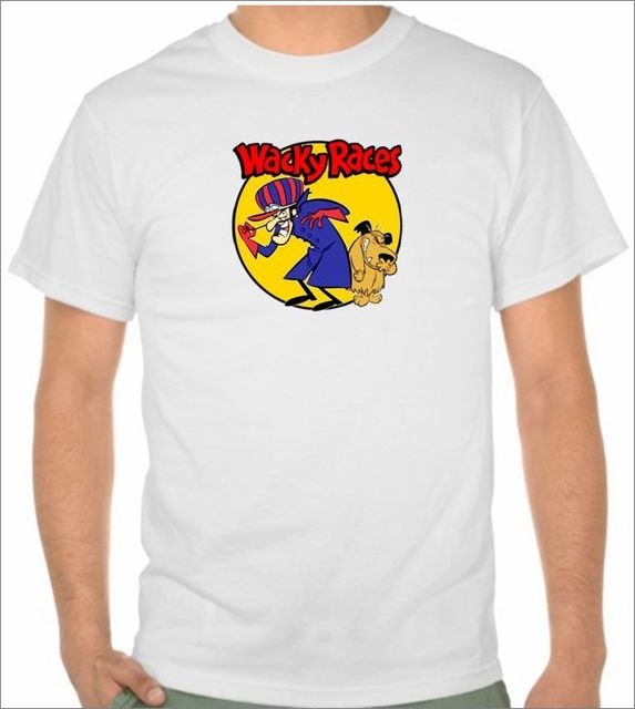 ecefe21e57 Wacky Races T- Shirt Hanna Barbera Dastardly and Muttley size S to 2XL 100%  cott custom t shirts t shirt design funny t shirts