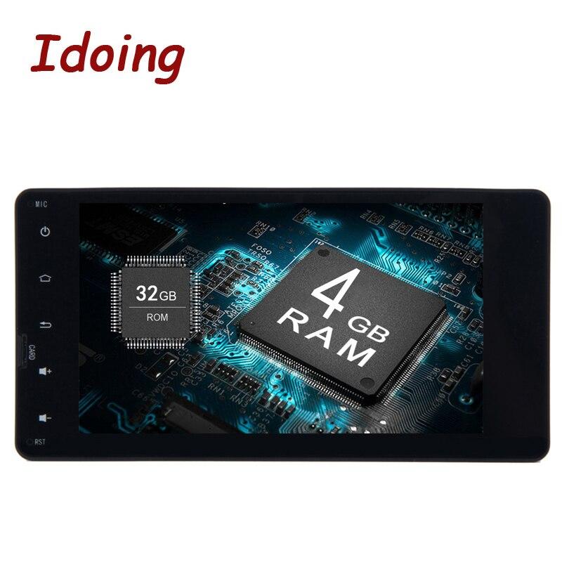 Idoing 2Din 7 4G + 32 г для Mitsubishi Универсальный Android 8,0/7,1 рулевого колеса 4/8 Core навигационная плеер быстрая загрузка 4G NO DVD