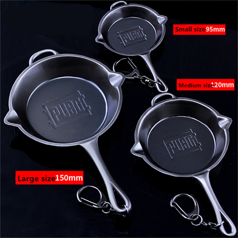Game PUBG Playerunknown's Battlegrounds Cosplay Props Alloy Frying Pan Model Pendant