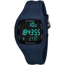 3D Pedometer Alarm Chronograph montre Multifunction jam tangan pria Men Digital