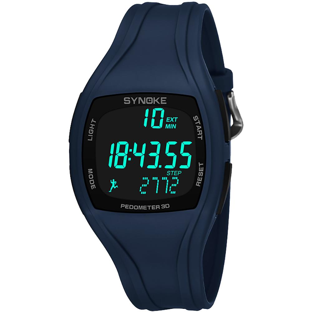 Bescheiden 3d Schrittzähler Alarm Chronograph Montre Multifunktions Marmelade Tangan Pria Männer Digital Armbanduhr Wasserdicht Digitale Uhren