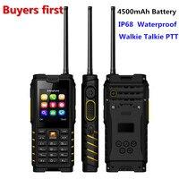 ioutdoor T2 UHF Antenna Walkie Talkie Rugged Mobile Phone IP68 Waterproof 4500mAh Unlocked Cell Phone can Add Russian keyboard