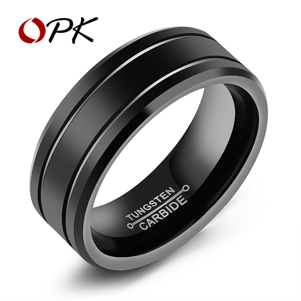 aliexpress : buy opk tungsten cool men rings high polished