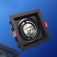 מחיר סיטונאי כיכר 15 W COB LED Downlight COB LED תקרת מנורות, שקועים LED אור AC85-265V