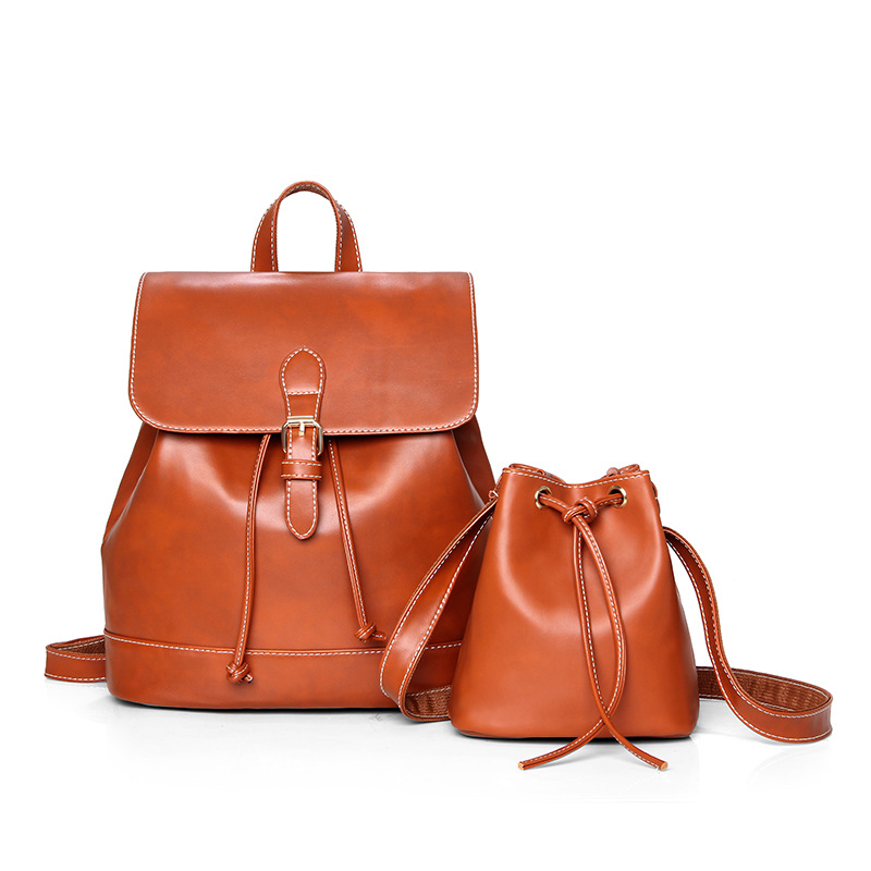 ФОТО Women Backpack 2017 BaoBao backpack female Fashion Girl Daily backpack Composite Bag Multifunction High Quality Leather Bags