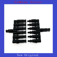 1Pair MC4 6T Multi T Branch MC4 Connector for solar panel parallel connection branch two pv module panel connect solar system