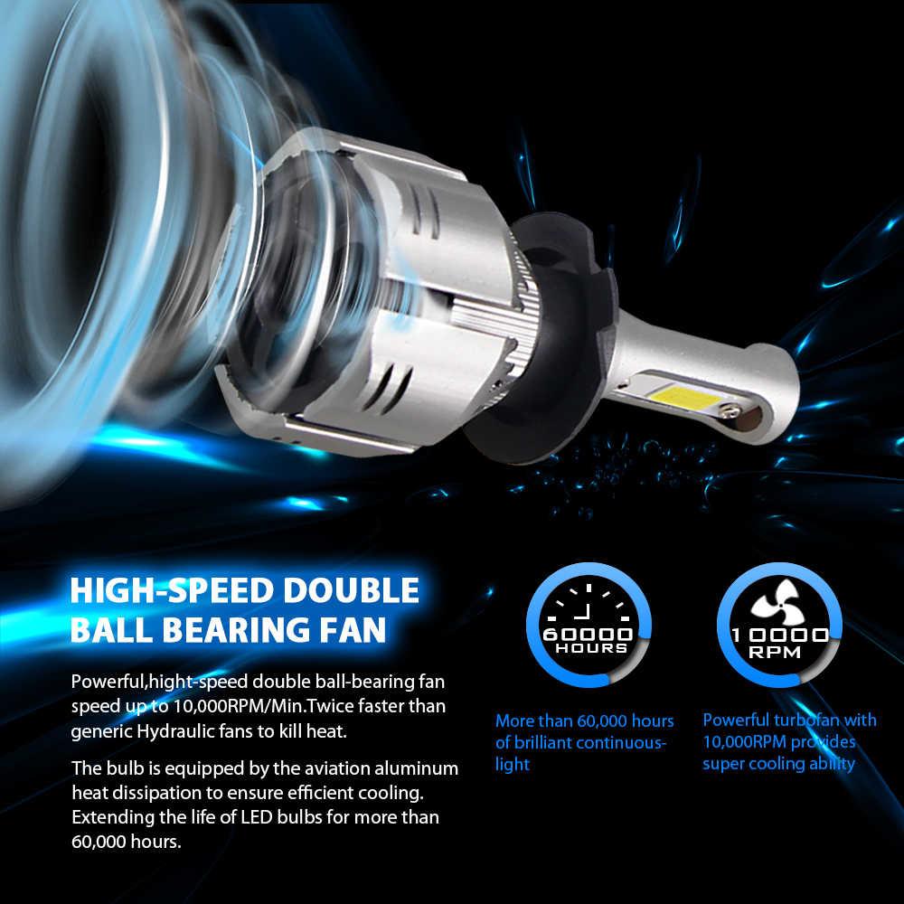 H4 светодиодный H11 H3 8000 K 6000 K 4300 K 3000 K H7 9005 9006 лампы фар автомобиля Авто H8 H9 880 H1 противотуманная фара 60 Вт отражатели 2 шт мощностью 12 v светодиодные передние фары