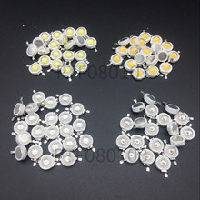 100PCS/LOT 1W 3W High power LED CHIP beads lamp Pure blue red green yellow RGB 35mli 45mli warm white Taiwan Genesis Chip