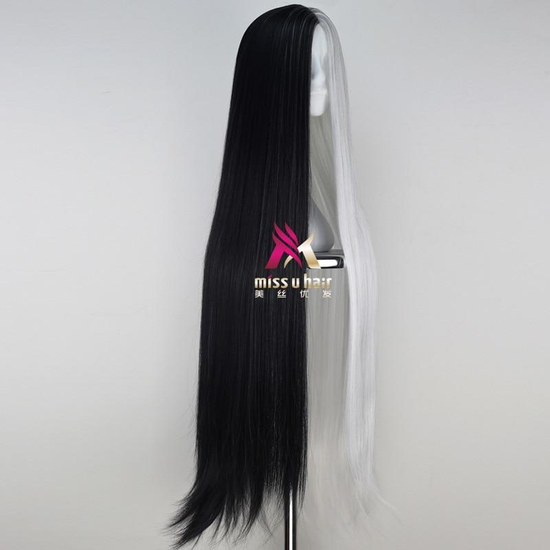 Long Wave Anime Comic Costume Hair Wig Black
