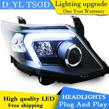 D_YL Araba Styling için Toyota Fortuner Farlar 2011-2015 Fortuner LED Far DRL Lens Çift Işın H7 HID Xenon bi xenon mercek