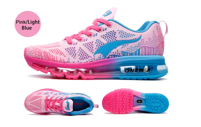 Onemix Running Shoes Women Sport Sneakers For Woman Athletic Trainers Exercise Runner Lady Pink Zapatillas Deportivas Pink Color 14