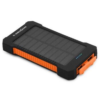 Caricabatterie solare 10000 mah banca portatile di energia solare per iphone 6 6 s 7 ipad air samsung nokia huawei xiaomi sony blackberry.