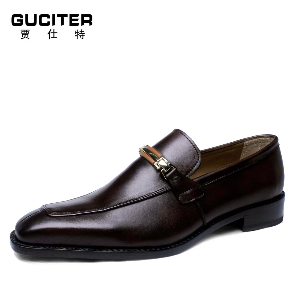 Guciter Free Shipping goodyear welted Ship-on casual Square Plain Toe Hand-Painted Brown Bespoke Whole-Cut Handmade Men's Shoe полироль пластика goodyear атлантическая свежесть матовый аэрозоль 400 мл