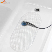 Фотография 39cmx69cm Bathtub Mat Non-slip Anti Slip PVC Bathroom Bath Mat with Suction Cup