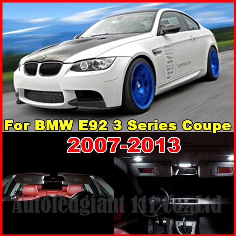 WLJH  18x White No Error Canbus Car LED Package Interior Light Kit for BMW E92 3 Series Coupe 328i 335i 335d 335i M3 2006-2013 epman turbo intercooler for bmw 135 135i 335 335i e90 e92 2006 2010 n54 ep int0022bmwt335i