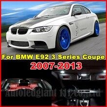WLJH  18x White No Error Canbus Car LED Package Interior Light Kit for BMW E92 3 Series Coupe 328i 335i 335d 335i M3 2006-2013