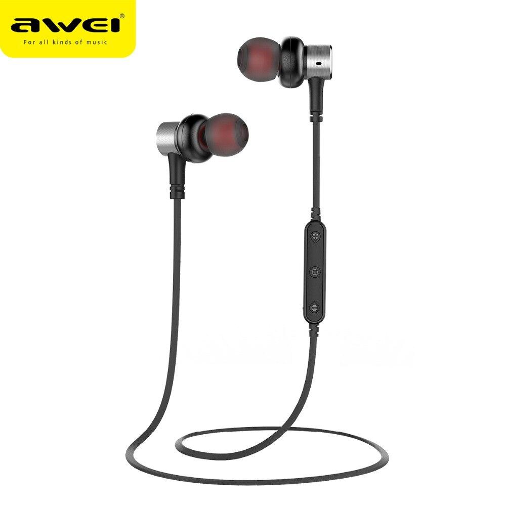 Awei B923bl Magnetic Wireless Earphones Sports Bluetooth Headset Bass Bluetooth Earphone With Microphone Handfree Stereo Earbuds Bluetooth Earphones Headphones Aliexpress