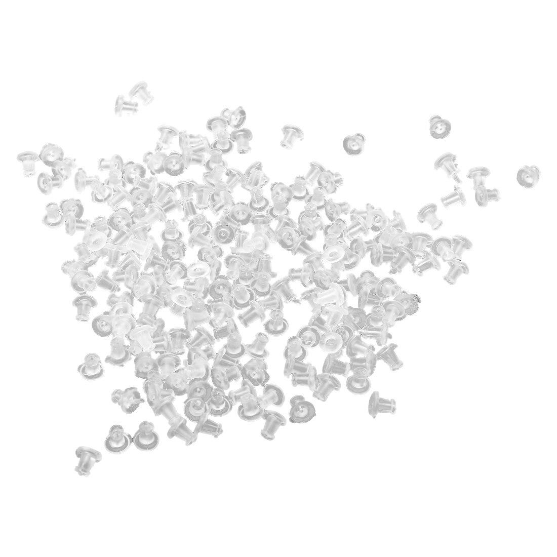 200 Pcs Plastic Earrings Closure 5 Mm