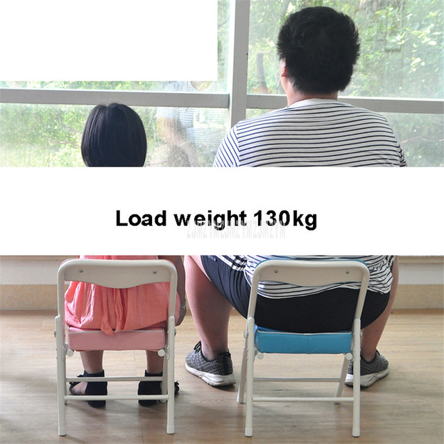 Foldable Children Chair Metal Steel Frame Sponge Filler Baby Kids Learning Writing Study Mini Low Chair For Doll House Furniture 5