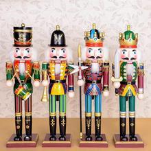 D327 38 см кукла Щелкунчик, деревянная ручная роспись Подвижная кукла куклы детские рождественские подарки, 1 шт