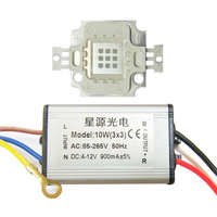 10 W Piazza Base UV Ultravioletta 395nm SMD HA CONDOTTO LA Luce di Ricambio + AC 85 ~ 265 V Impermeabile LED driver