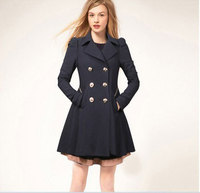 2014 New Arrival Spring Thin Cotton Blended Coat Women S Double Breasted Long Trench Coats Slim
