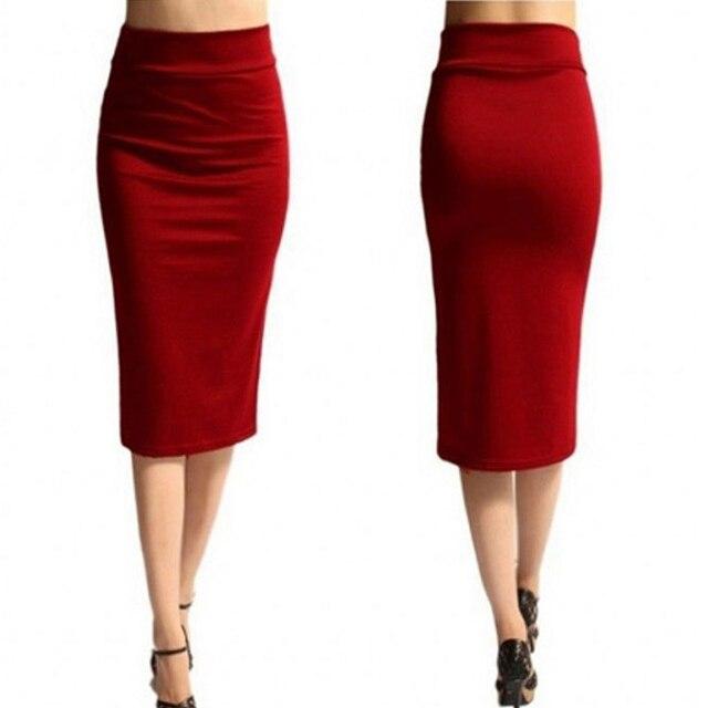 2018 New Women Skirt Mini Bodycon Skirt Office Women Slim Knee Length High Waist Stretch Sexy Pencil Skirts Jupe Femme AQ801944 3