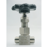 DN6 Welded Needle Valve Flow Control, High Pressure Stainless Steel SS316