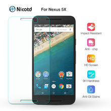 Nicotd Premium Tempered Glass For LG Nexus 5X Google 6 6plus 5 4 9H Screen Protector Toughened protective film For LG V20 V10 Q6(China)