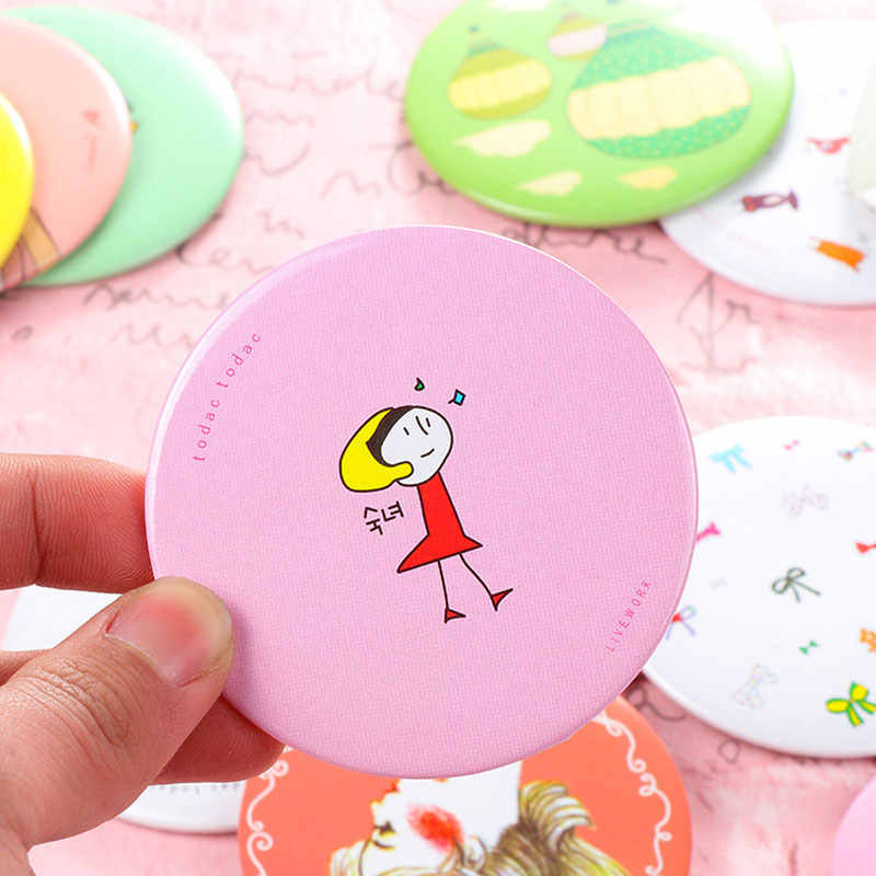 1pc 7cm Portable Mini Mirrors Pocket Makeup Mirror Normal Cosmetic Compact Mirrors for Woman Lady Dropshipping DA