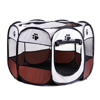 Pet Portable Foldable Playpen Exercise Kennel Dogs Cats Indoor/outdoor Removable Mesh Shade Cover Fences for Small Dogs Puppies
