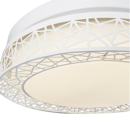 Modern Zinc Alloy Net Round Shaped LED Ceiling Fan Lights with Foldable Invisible Blades