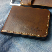 Handmade Vintage Mens Wallet Leather Genuine Quality Guarantee Durbale Top Layer Cow Leather Mens Wallet Portefeuille