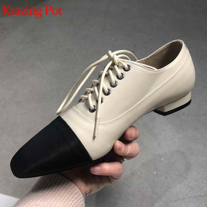 Nouvelle Pompes L17 Couleur Superstar Lacets Mixte Chaussures Pot En 2019 beige Faible Concise Krazing Apricot Talons noir Parti Femmes Cuir Gladiateur Véritable Marque À SvEqW